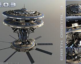 3D model Earth Orbital 3 Space Station