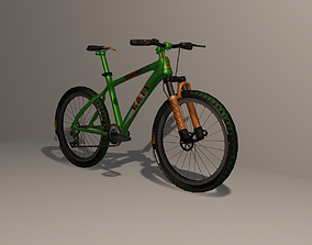 3D asset Mountain Bike 7