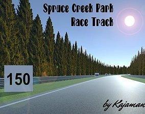 Race Track 01 Spruce Creek Park 3D asset