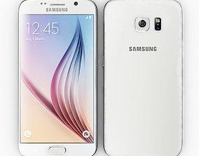 3D model Samsung Galaxy S6 White
