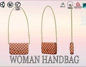 Woman Handbag Louis Vuitton 3D asset game-ready