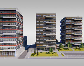 Communist Trinity Towers 3D asset