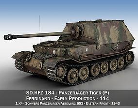 3D Ferdinand Tank destroyer - Tiger P - 114