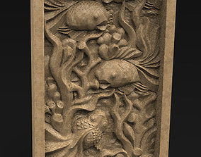 Decorative Panel Fish 3D Model