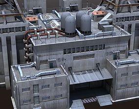 Factory Building - Industrial - Powerplant 3D asset