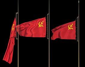 Flag of the Soviet Union USSR 3D