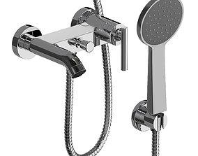 Shower mixer faucet 3D model