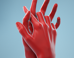 Interwoven Realistic Hand Model 18 3D