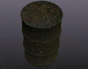 3D asset barrel steel