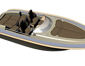 3D model Motorboat Runabout 87m