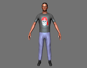 3D model Character man people 03 rigged