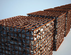 Gabion 3d - Rusty outdoor