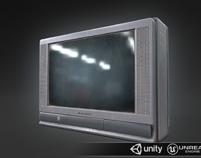 Old type TV medium 3D model