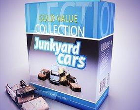 3D asset Junkyard cars collection