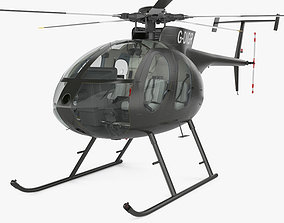 MD Helicopters MD 500 with HQ interior 3D