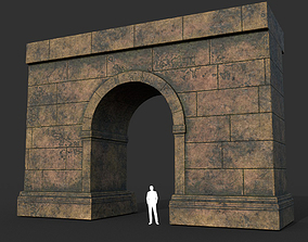 Low poly Ancient Roman Ruin Construction 02 - 3D model 1