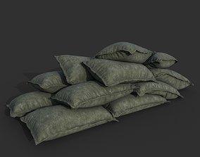 3D asset Low poly Sandbag 02 B