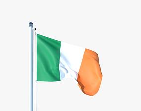 3D model Animated Flag of Ireland