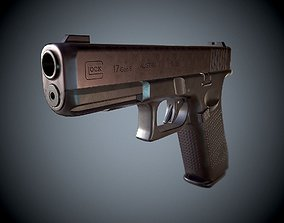Pistol Glock 17 gen 5 3D model game-ready