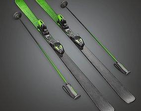 3D asset SAG - Snow Ski 01a - PBR Game Ready
