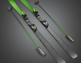 3D model Ski 01a - Sports And Gym