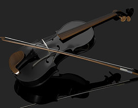 Violin and bow 3D sports