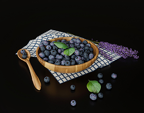 Blueberry with lavender 3D