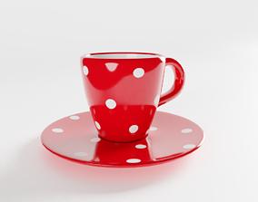 3D Polka Dot Espresso Coffee Cup