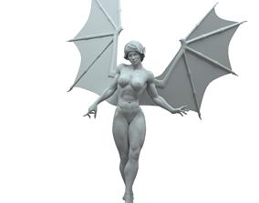 demon girl model for 3D printing spooky