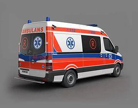 3D Ambulance Car