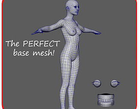 Realistic Woman - The Perfect Base Mesh 3D asset