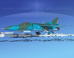Mig-23 Fighter V27 Cuba 3D