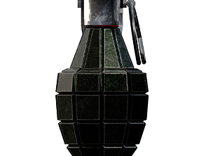 3D asset game-ready Grenade