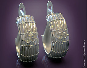 organic The Om mantra earrings 3D print model