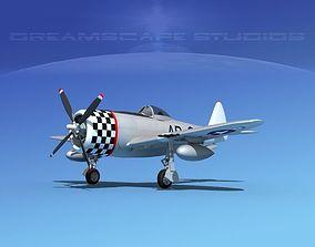 3D Republic P-47D Thunderbolt V04