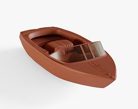 3D asset Riva Boat