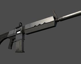 3D asset Assault Rifle Sci-Fi