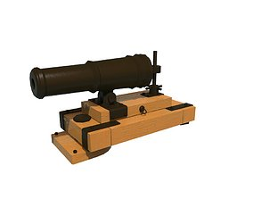 cannon 3D asset game-ready