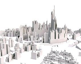 Electronic city X 3D asset