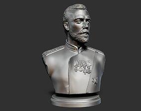 Nikolay 2 bust 3D print model