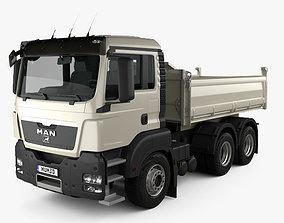 MAN TGS M Day Cab Meiller-Kipper D316 Tipper 3D model 2