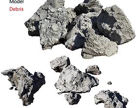 3D model low-poly Debris