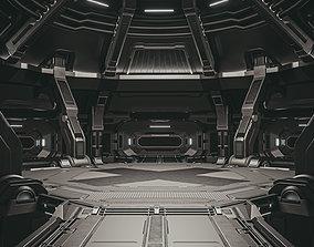 3D Sci-fi scene black abyss