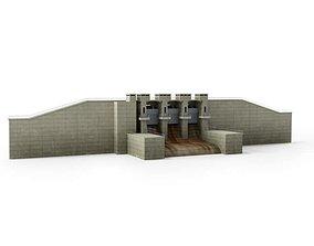 3D model Large Grey Dam