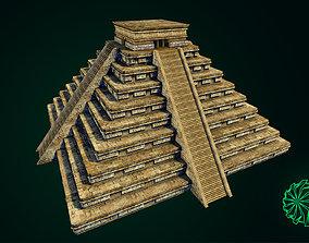 3D asset Maya Pyramid - Ancient Temple - Baked Texture