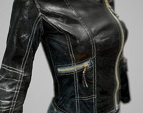 Leather Skirt and Jacket 3D model