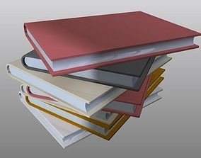 3D print model Set of stacked Books