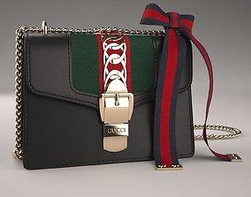 Gucci Sylvie Leather Mini Chain Bag 3D asset