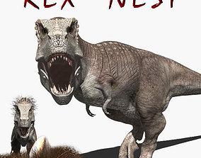 animated Rex nest - 3d model