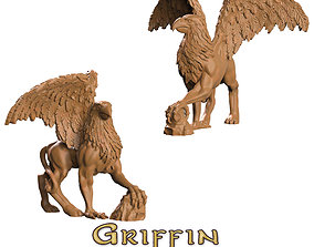 3D printable model winged griffin